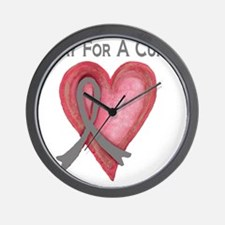 Pray for a cure 2 Wall Clock