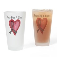 Pray for a cure 2 Drinking Glass