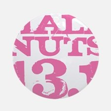 Half Nuts Pink Round Ornament