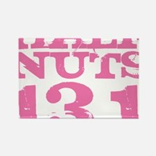 Half Nuts Pink Rectangle Magnet