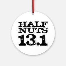 Half Nuts Round Ornament