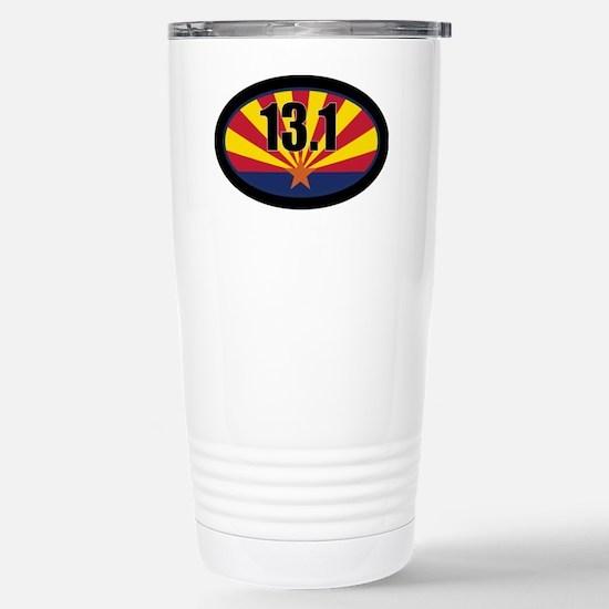 AZ-131-OVALsticker Stainless Steel Travel Mug