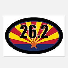 AZ-262-OVALsticker Postcards (Package of 8)