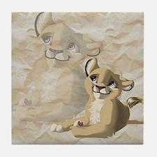 lionfriend Tile Coaster