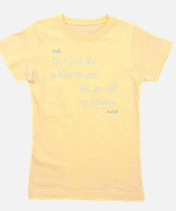 CASTLE kill my patienceWHITEfont Girl's Tee