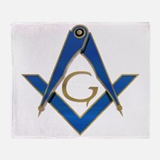 Square and Compasses Throw Blanket