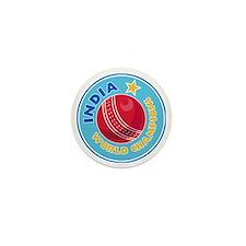 india world champions cricket ball Mini Button