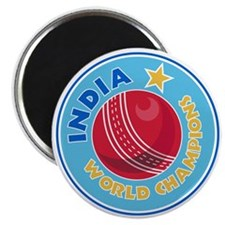 india world champions cricket ball Magnet