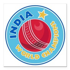 "india world champions cr Square Car Magnet 3"" x 3"""