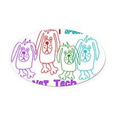 i speak dog colorful Oval Car Magnet