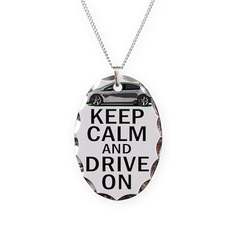 Vlt Keep Calm Necklace Oval Charm