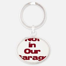 Garage Oval Keychain