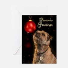 Season's Greetings Border Terrier Greeting Cards