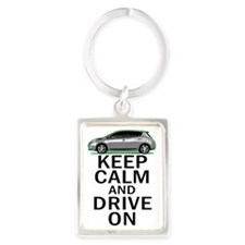 Leaf Keep Calm Portrait Keychain