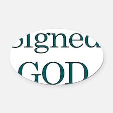 God Oval Car Magnet
