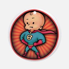 super-baby-T Round Ornament