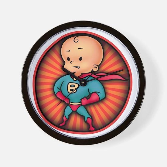 super-baby-T Wall Clock