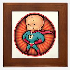 super-baby-T Framed Tile