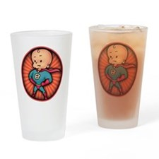 super-baby-T Drinking Glass