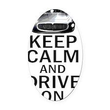 Maserati Keep Calm Oval Car Magnet