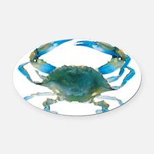 bluecrab Oval Car Magnet