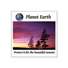 """For the beautiful sunsets2- Square Sticker 3"""" x 3"""""""
