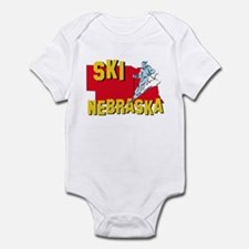 Ski Nebraska Infant Bodysuit