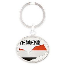 I am Yemeni Oval Keychain