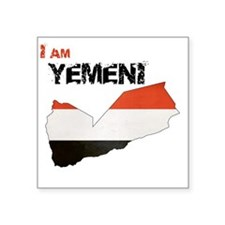 "I am Yemeni Square Sticker 3"" x 3"""