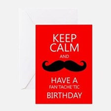 Birthday Moustache / Mustache Greeting Card