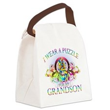 I Wear A Puzzle for my Grandson ( Canvas Lunch Bag