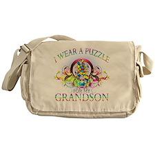 I Wear A Puzzle for my Grandson (flo Messenger Bag