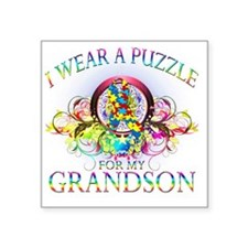 "I Wear A Puzzle for my Gran Square Sticker 3"" x 3"""