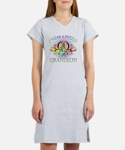 I Wear A Puzzle for my Grandson Women's Nightshirt