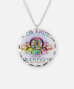 I Wear A Puzzle for my Grand Necklace