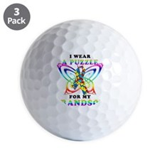 I Wear A Puzzle for my Grandson Golf Ball