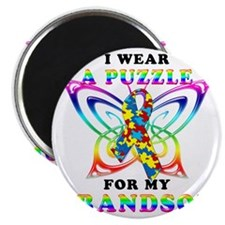 I Wear A Puzzle for my Grandson Magnet
