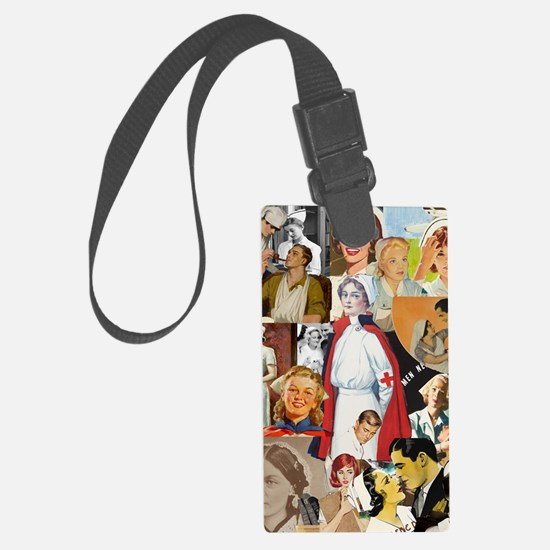 nurse collage poster Luggage Tag