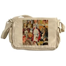 nurse collage poster Messenger Bag