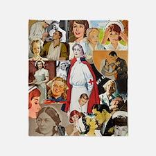 nurse collage poster Throw Blanket
