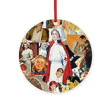 nurse collage poster Round Ornament