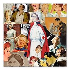 "nurse collage poster Square Car Magnet 3"" x 3"""