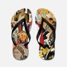 nurse collage poster Flip Flops