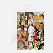 nurse collage poster Greeting Card