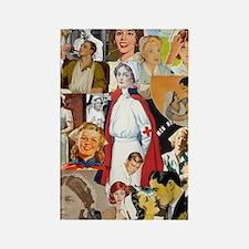 nurse collage poster Rectangle Magnet