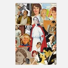 nurse collage poster Postcards (Package of 8)
