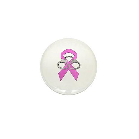 Arresting Breast Cancer - white letter Mini Button