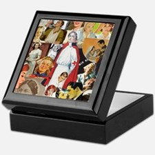 nurse collage mousepad Keepsake Box