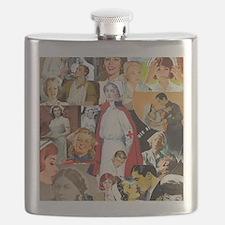 nurse collage mousepad Flask