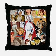 nurse collage mousepad Throw Pillow